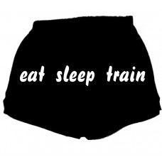 eat sleep train - fitness shorts